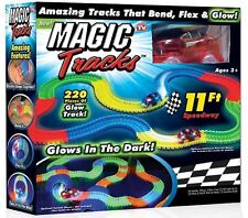 Magic Tracks As Seen On TV Flexible, Bendible and Glowing Race Track, 220 Pieces