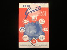June 3, 1951 St. Louis Cardinals @ NY Giants Program - Willie Mays Rookie Year!