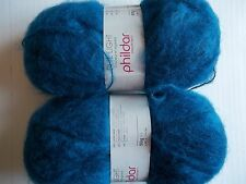 Phildar Light brushed wool blend yarn, Naval (blue), lot of 2 (315 yds ea)