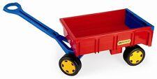 Wader Handwagen Anhänger Trailer Polerwagen Strandwagen Wagen stabil robust rot