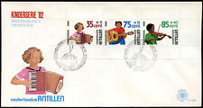 Netherlands Antilles 1982 Child Welfare Music M/S FDC First Day Cover #C26734