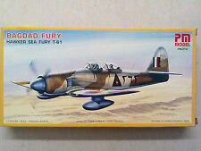 PM Model PM-214 Bagdad Fury Hawker Sea Fury T-61 1:72 Neu mit Lagerungsspuren
