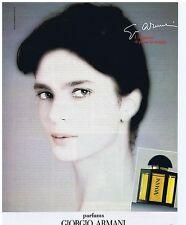PUBLICITE ADVERTISING 104 1987 GIORGIO ARMANI parfums