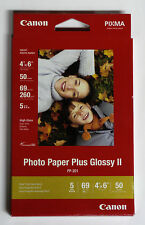 Canon OEM 4x6 50 glossy photo printer paper PP201 for MG3620 MG2120 MG4120 MX432