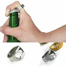 Stainless Steel Finger Thumb Ring Drinks Top Bottle Opener Bar Beer Party Tool