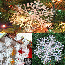 30Pcs New Classic White Snowflake Ornaments Christmas Holiday Party Home Decor