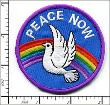 """10 Pcs Embroidered Iron on patches Peace Sign Dove 2.76""""x2.76"""" AP025cC"""