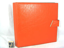 Vintage 70´s design 12 inch LP record case / Schöne Schallplatten Mappe Orange