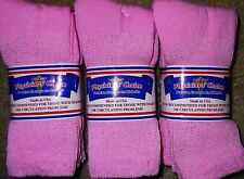 3 Pair of Women's Pink Diabetic Soxs Socks Size 9 - 11    Fits Shoe Size 5-10