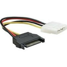 SATA power 15pin male to molex power 4 pin female adapter cable, SATA to Molex