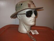 US MILITARY DESERT COMBAT UNIFORM BOONIE HAT SUN CAP SIZE 7 1/4 MEDIUM LARGE NEW