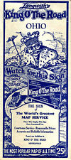 1931 Ohio Road Map from Langwith's King O' The Road Series