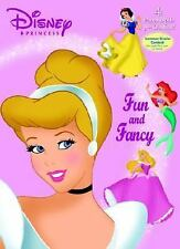 GOLDEN BOOKS  DISNEY PRINCESS FUN & FANCY 4 PAPER DOLLS & OUTFITS BOOK NEW
