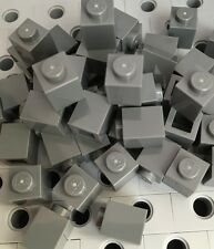 LEGO New Bulk Lot Of 50 1x1 Dark Gray Brick 1x1 Building Blocks