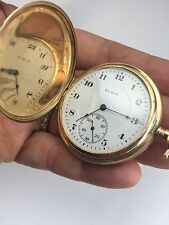 Antique  14 K Solid Gold Elgin Pocket Watch 62 grams