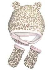 Carter's Animal Print Fleece Hat & Mitten Set 12-24 Months Cheetah Leopard NWT