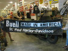 HUGE St. Paul Harley-Davidson Buell Made In America Banner poster sign #5374
