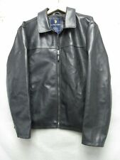 V5540 US Polo Assn. Black PVC Zip Up Jacket Men's L