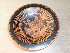 fine  antique greek pottery tazza compote classical design