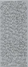 Zierstickerbogen Sticker Doodle Rand Silber (134) Starform Aufkleber