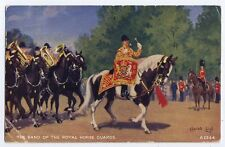 Band of Royal Horse Guards British soldier vintage military Postcard - 1955