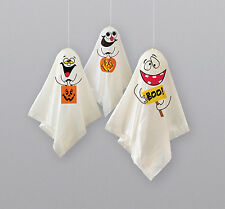 3 Halloween Hanging Ghost Balloons Party Decorations indoor / outdoor FREE P&P