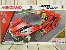 Spin Master MECCANO FERRARI 488 SPIDER MODEL  305 PARTS NEW Tools Included