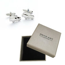 Mens Silver Mini Cooper Cufflinks & Gift Box By Onyx Art