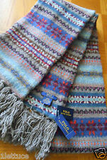 Polo Ralph Lauren Fair Isle 100% Wool Knit Scarf 76x7 Men Women Winter Muffler