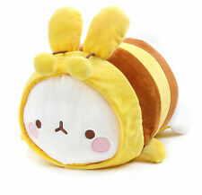 "Molang Lieing 13"" HONEY BEE Plush Stuffed Doll Cushion Cute Rabbit Decor Toy"