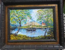 """MORRIS KATZ Oil Painting Vintage Mid-Century American Art Signed 17""""x22"""""""