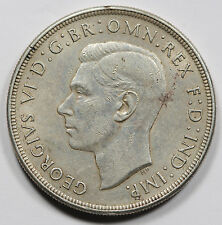 1938 Australia George VI Silver CROWN Coin XF+/AU *KEY DATE* Extremely Fine+