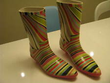 AUTHENTIC PAUL SMITH MULTI STRIPES RUBBER RAIN BOOT GUMMISTIEFEL SIZE 5