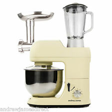 Andrew James Multifunctional Cream 5.2 Food Stand Mixer Meat Grinder & Blender
