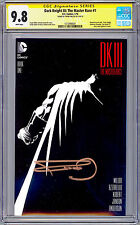 DARK KNIGHT III THE MASTER RACE #1 CGC-SS 9.8 SIGNED DK LEGEND FRANK MILLER 2016