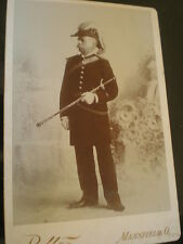 cabinet photograph Order of Odd Fellows baldrick sword by Polter Mansfield 1890s