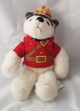 RCMP Sergeant Rrrruff White/Gray Husky Mounted Police stuffed/plush dog 9""