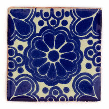 Fairly Traded Handmade Ceramic Mexican Talavera Tile - Eldora (T12859-28)
