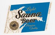 Sauna Light Beer Label