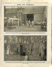 Farm Belgium Soldiers Deutsches Heer Bataille de la Flandre/Red Cross 1915 WWI