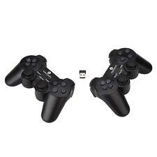 2x2.4G USB Wireless Dual Vibration Gamepad Controller Joystick For PC Laptop