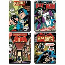 Batman Coaster Set Retro Detective Comic Book Covers The Joker Robin Dark Knight
