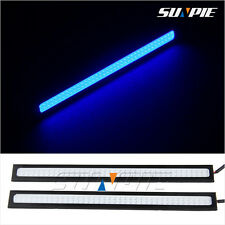2PCS Bright Car COB LED Light Blue Lamp for DRL Fog Driving Runnning Waterproof
