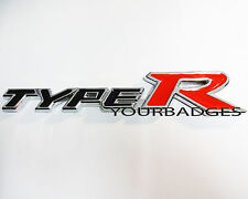 Chrome Metal Type R Car badge Civic
