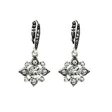 Delicate Sparkling Clear Crystals Pave Star Petite Clip Earring Gala Jewel De
