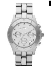 Marc By Jacobs 3100 Silver Chunky Blade Chronograph Watch Perfect Condition