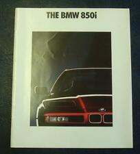 BMW 850i Car Sales Brochure February 1990 #0110806212/90