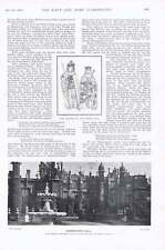 1901 Knebworth Hall King Richard Iii Queen Anne Admiral Sir Hotham And Staff