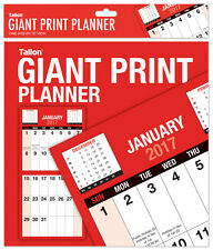 2017 Giant Print Month To View Bound Wall Planner Calendar - Home Office Work