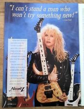 LITA FORD (RUNAWAYS) Alvarez Guitars magazine ADVERT / mini Poster 11x8 inches
